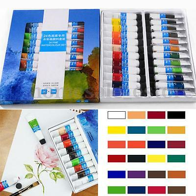24 Colors 10ml Professional Artist Grade Transparent Watercolor Oil Paint Set