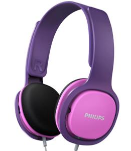 Philips Kinder Kopfhörer Pink SHK2000 Bügelkopfhörer mit Kabel Audi Hifi