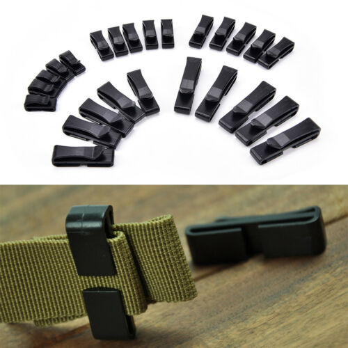 5x Quick Plastic Buckle Tactical Backpack Bag Webbing Belt Strap Clip Bag  LDUK