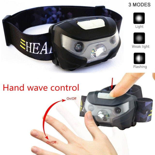Super Bright Waterproof Head Torch/Headlight LED USB Rechargeable Headlamp Fish