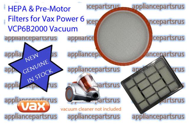 Vax Power 6 Bagless Vacuum Cleaner Filter Pack - VCP6BFLT Models VCP6B2000 VX38