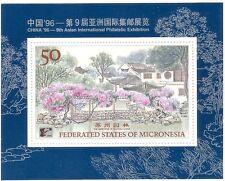 Micronesia 1996 Tourism/Suzhou Gardens/Trees/Buildings/StampEx 1v m/s (s1831)