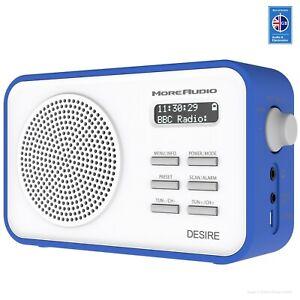 44dc6b0359cc Portable DAB Radio FM Clock Alarm Personnel Travel Digital MoreAudio ...