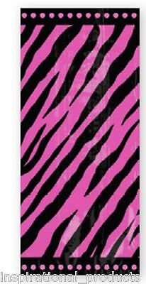Amscan 20 Pack HOT PINK ZEBRA PARTY BAGS Cello Cellophane With Twist Ties
