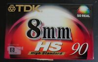 Tdk Camcorder Tape 8mm P5-90hsed Sealed Free Shipping