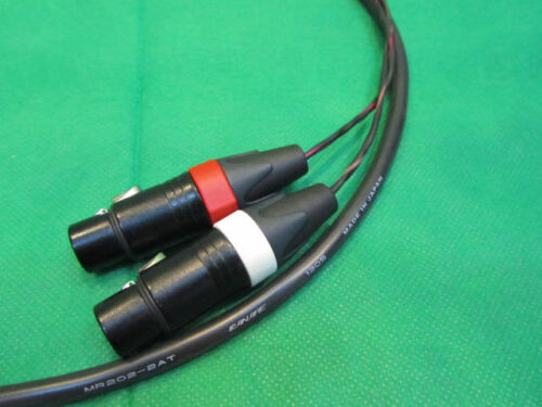 """XLR-F to 1//4/"""" TRS-M 3 Ft. Canare MR202-2AT 2 Channel  Studio Snake Cable"""