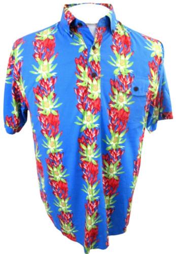 "CUBAVERA Men Hawaiian ALOHA shirt p2p 22"" M rayon"