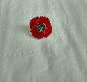 Luxury Poppy Pin Badge fast dispatch!!