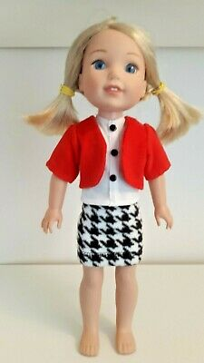 "HANDMADE DOLL CLOTHES FIT A,G 2 PANTS,SHORTS TOP 14/"" WELLIE WISHERS 4 PC.SET"