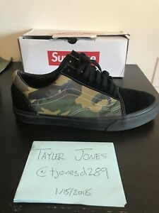 Vans X Supreme Old Skool Green Camouflage US12 VNDS Vault Syndicate ... c0c020f0a