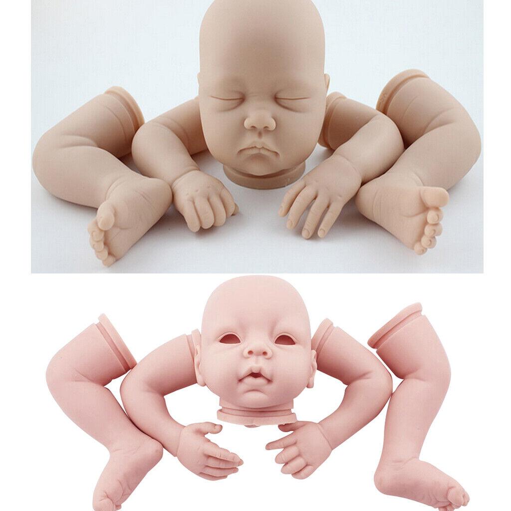 2 Set Real Touch 22inch Reborn Kits Silicone Head Head Head Full Limb Mold Baby Dolls  ordene ahora los precios más bajos