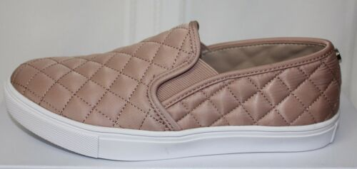 Steve Madden Ecntrcqt Ecentric Slip On Sneaker shoes Blush Quilted Fabric New