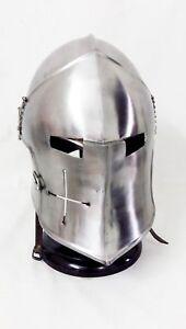 Medieval Barbuta Helmet Knights Templar Crusader Armour Helmet