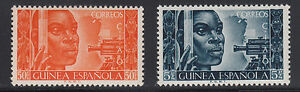 Spanish-Guinea-Sc-319-320-MNH-1951-Surveyor-complete-set-VF