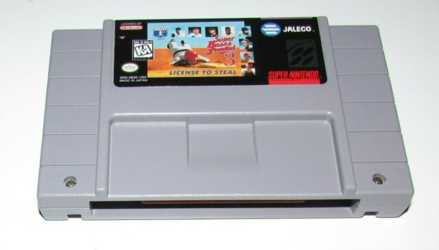 Super Bases Loaded 3: License to Steal for Super Nintendo SNES Fast Shipping