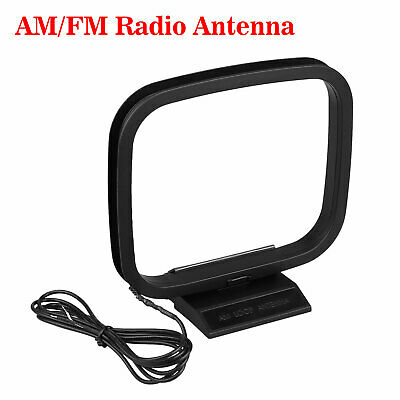 Indoor AM FM Loop Antenna Aerial Connector for StereoAudio Receiver System /_7
