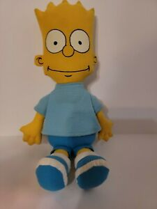 "Vintage Bart Simpson 11"" Plush Doll 20th Century Fox Matt Groening Dan Dee 1990"
