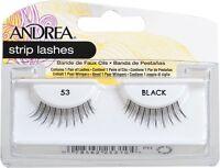 8 Pairs Andrea Modlash 53 False Eyelashes Strip Lashes Black 25310