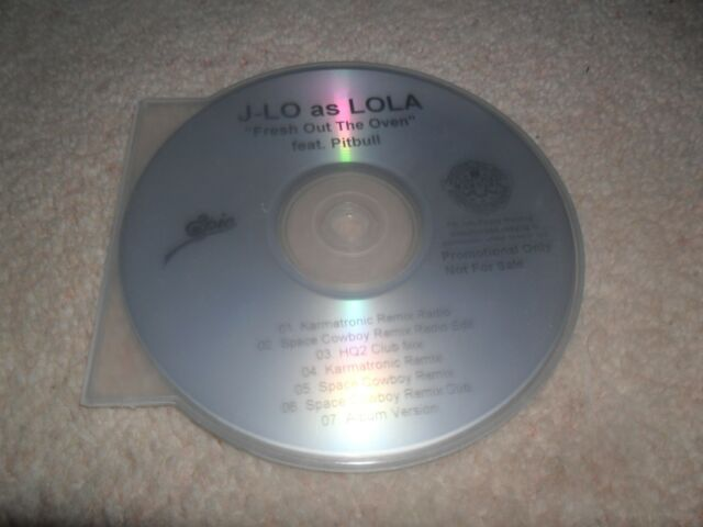 J-LO AS LOLA - FRESH OUT THE OVEN FEAT PITBULL - (JENNIFER LOPEZ( SEVEN TRACK CD