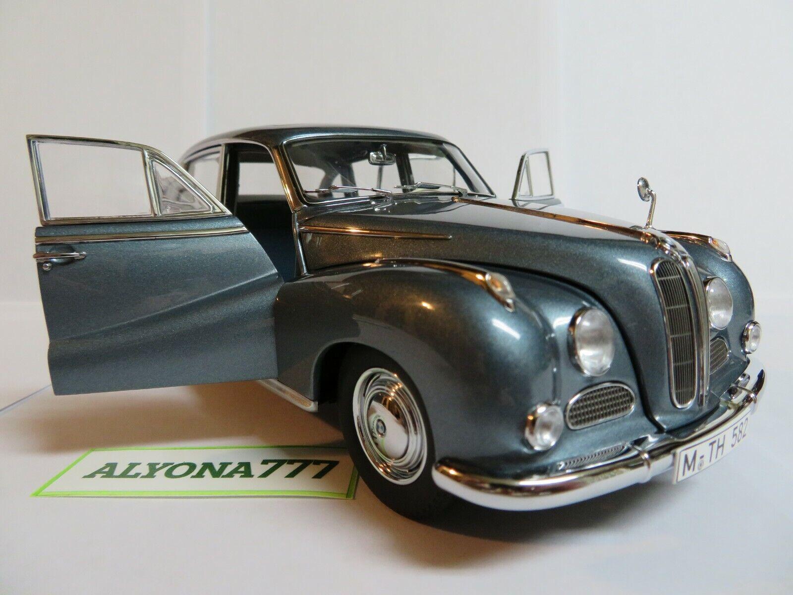 AUTOart MILLENNIUM 1 18 BMW 502 Luxus 2.6 Bleu métallisé 1958 Diecast Car Model