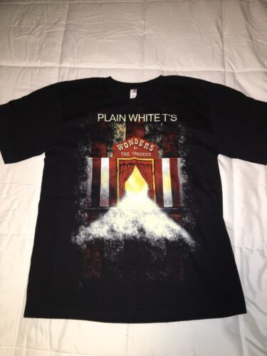 Plain White T/'s Rock Band Tour Shirt Vintage Wonders Of The Younger Youth XL
