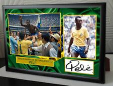 Pele Signed Tribute Framed Great Gift