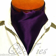MEN'S SOLID EGGPLANT Free Style Casual Ascot Cravats Formal Party Wedding