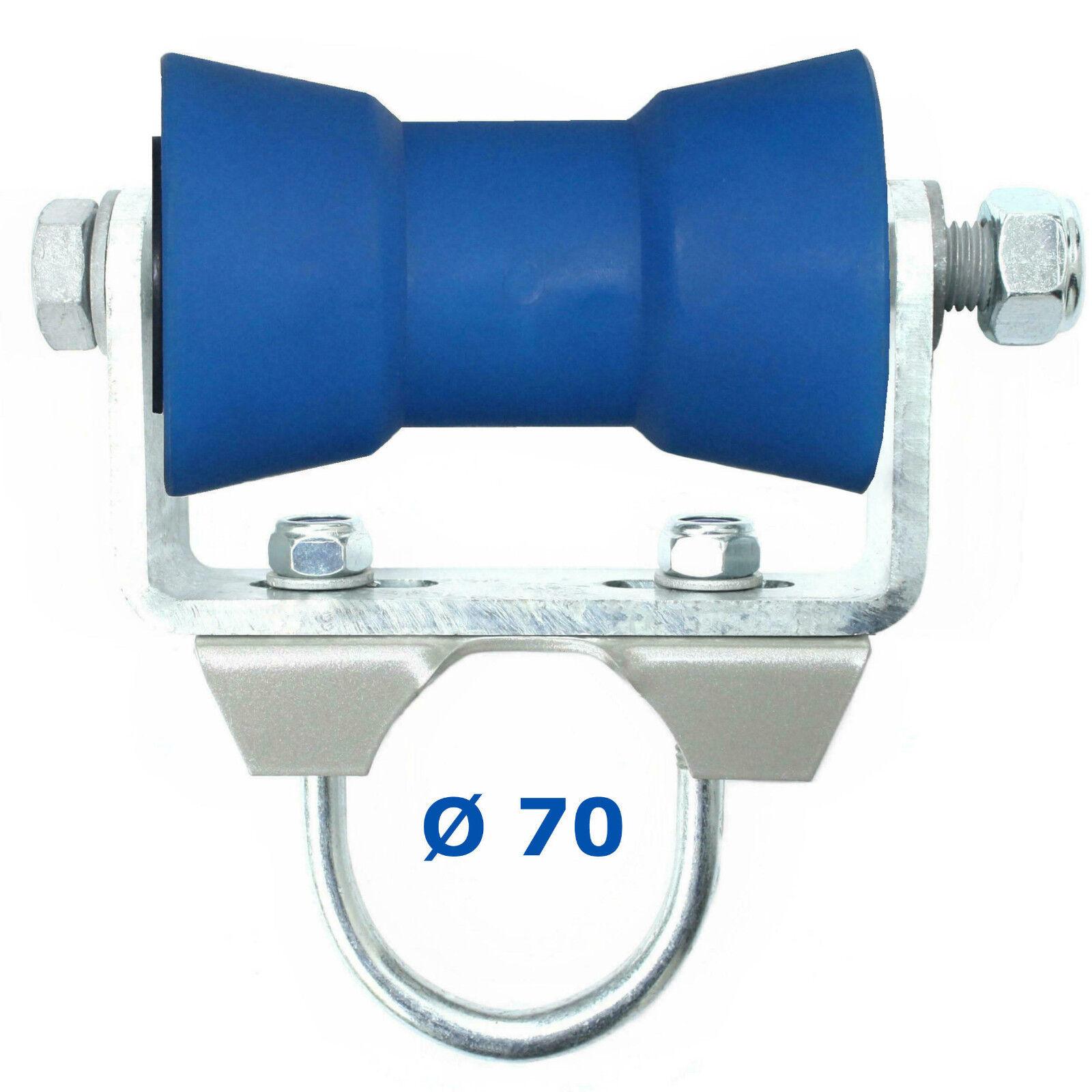 ✘ U-Halter inkl. BlauLINE-128 (PU) für Rundrohr Rundrohr Rundrohr Ø 60/70 mm | Sliphilfe Kielrolle aeea92