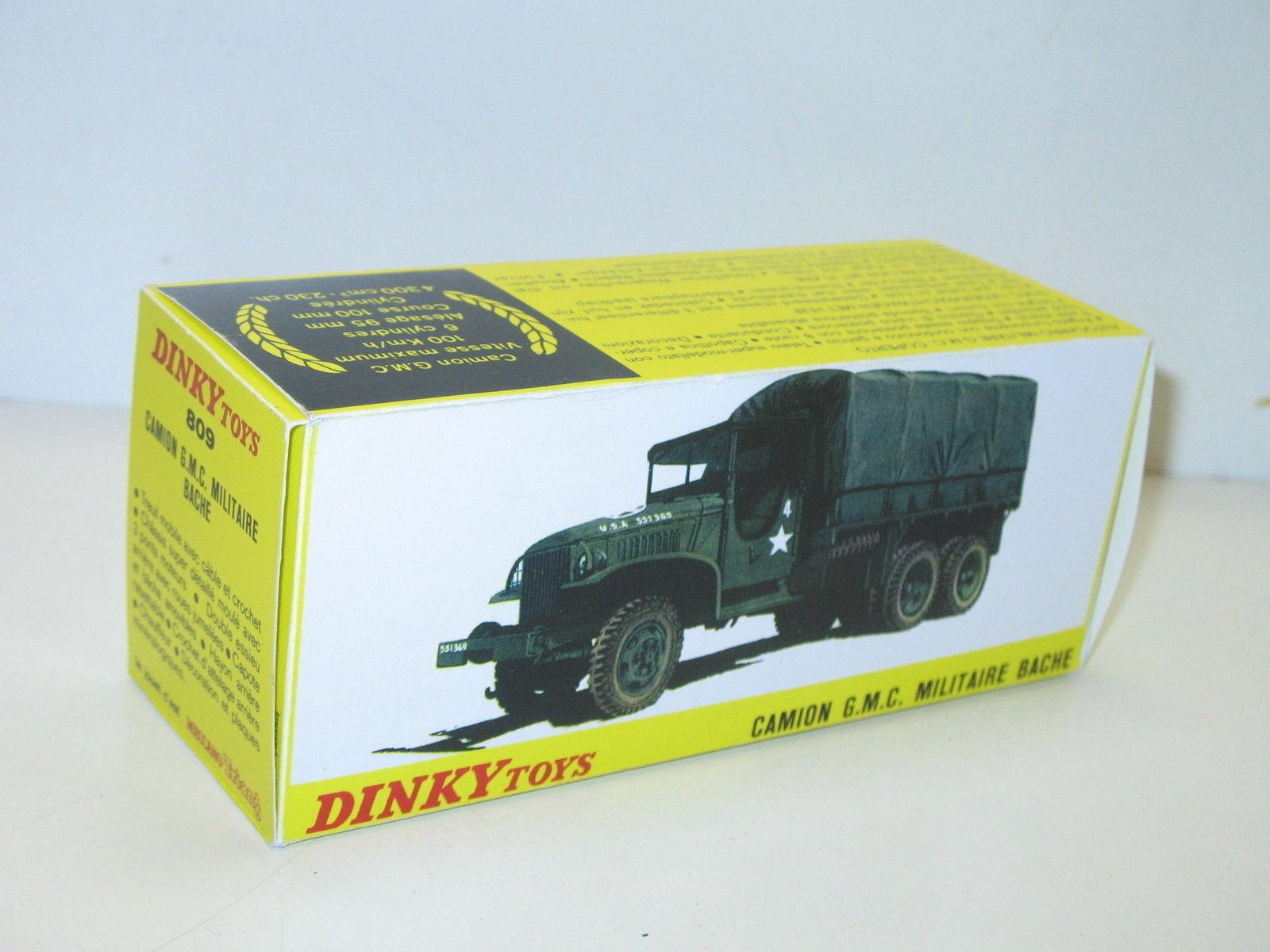N40, caja GMC cubierto, militar repro DINKY 809