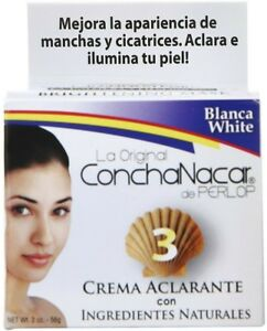 Concha Nacar De Perlop Bleach Cream #3 2 oz (Pack of 2) Rose & Apricot Antioxidant Day Cream (for Normal/ Dry Skin)  30ml/1oz
