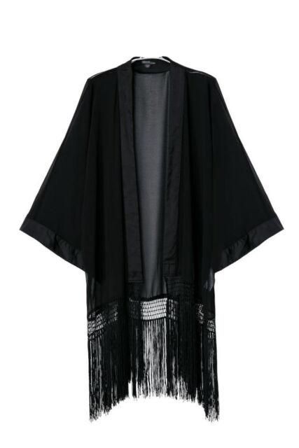 New Vintage Retro Women Loose Casual Chiffon Top Kimono Coat Cape Blazer Jacket