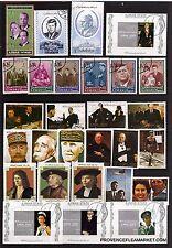 8T5 AJMAN 4 blocs et 24 timbres oblitérés:Pesrsonnages illustres et important