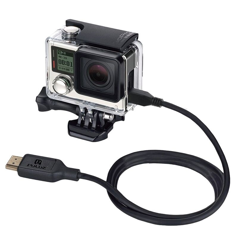 PULUZ for GoPro HERO 7/ 6/ 5/ 4 Video 19 Pin HDMI to Micro 5 Pin HDMI Cable Wire