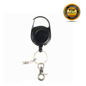 Heavy-Duty-Retractable-Key-Chain-Carabiner-Nylon-Wire-ID-Card-Fob-Clip-Lanyard