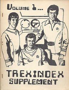 """Star Trek TOS Vintage Gen Fanzine: """"Trexindex #1+Trekindex Second Supplement"""""""