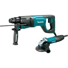 Makita Hr2641x1 Sds Plus Avt Rotary Hammer With Case And 4 12 Angle Grinder