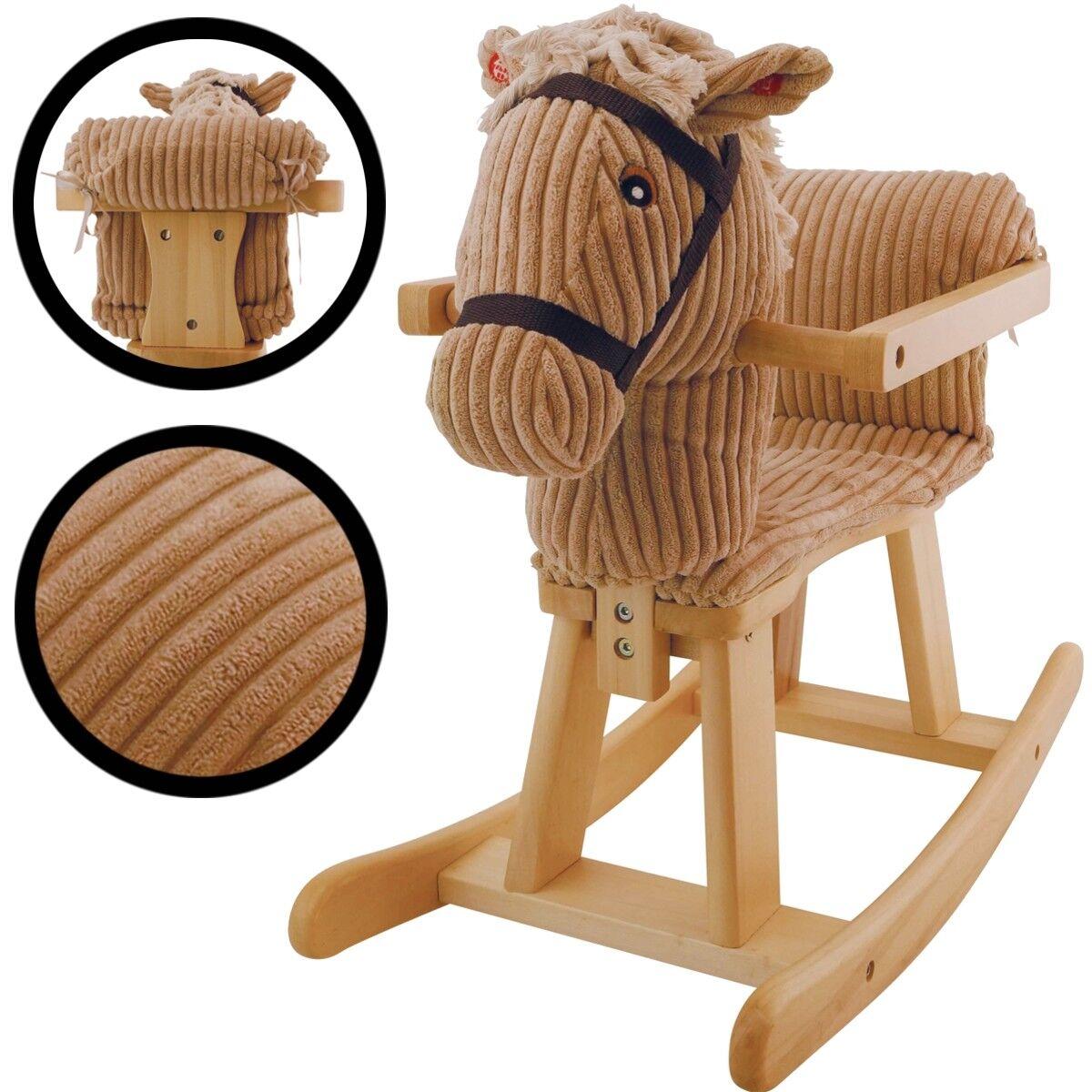 BIECO Holzschaukelpferd aus MASSIVHOLZ MASSIVHOLZ MASSIVHOLZ Schaukeltier Schaukel Pferd Kind Baby 3117ec