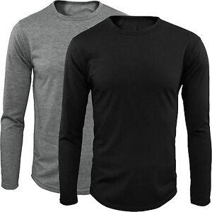 Sueter-De-Hombre-Manga-Larga-camiseta-Cuello-redondo-S-M-L-XL-XXL-GIROGAMA-1705F