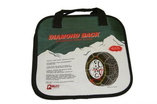 Quality Chain 1547Q Diamond Back Link Tire Chains Snow Traction Passenger Car
