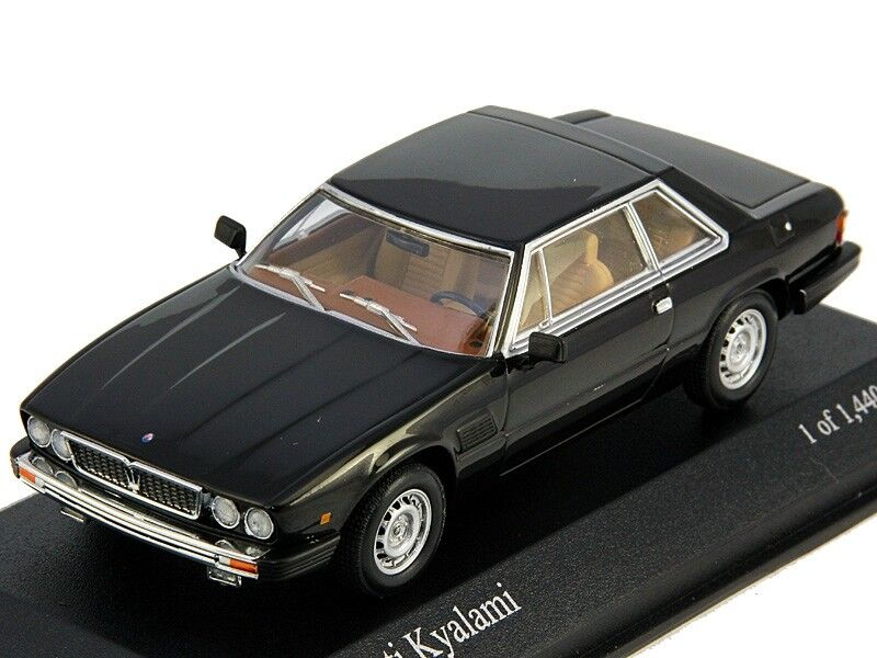 Scale model 1 43 Maserati Kyalami 1982 Black