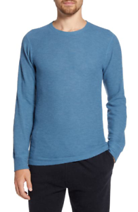 Billy Reid Mens Long Sleeve Paneled Thermal Crew Neck T-Shirt