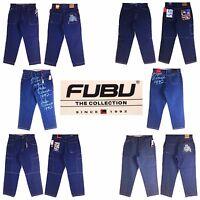 Platinum Fubu, Fubu, Assorted Style, Old School Baggy, Men's Long Denim Jeans,