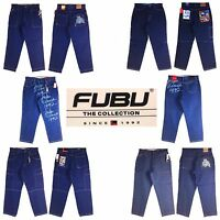 Platinum Fubu, Fubu, Assorted Style, Old School Baggy, Men's Long Denim Jeans,
