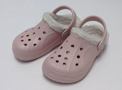 Crocs Feat / Relen Lined Kids Girls Cotton Candy Oatmeal C6/7 --- C12/13 J1 2 3