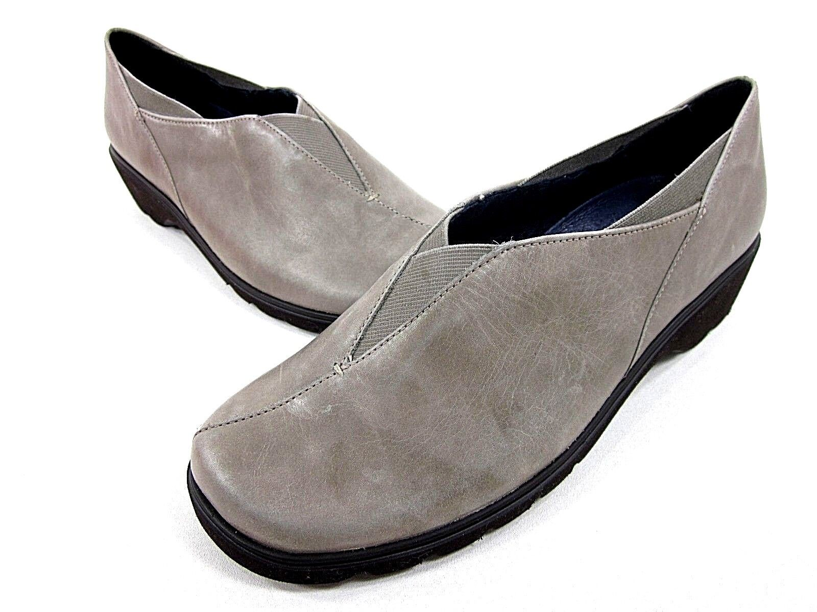 ARA ANDRO SLIP-ON WOMEN'S TAUPE LEATHER US NEW/ SIZE 6 W LEATHER NEW/ US DISPLAY 3415f1