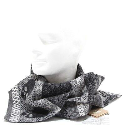 comprare popolare 2ae40 5227c 7231N sciarpa GEMMA. H UOMO grigio sciarpe uomo scarf men | eBay