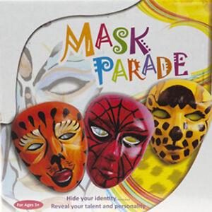 Faites Votre Propre Masque Carnaval Parade Fancy Dress Party À Faire Soi-même Craft Kit 3 Masques-afficher Le Titre D'origine Une Gamme ComplèTe De SpéCifications