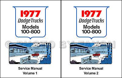 1977 Dodge Camion Manuale Di Negozio W E D 100-800 Pickup Warlock Power Wagon