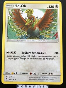 Carte-Pokemon-HO-OH-160-214-RARE-Soleil-et-Lune-8-SL8-Tonnerre-Perdu-FR-NEUF