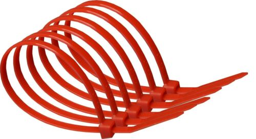 Heavy Duty Nylon Coloured Cable Ties Various Sizes packs of 10 to 50